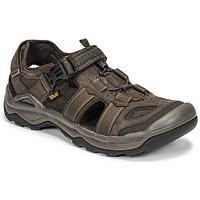 Shoes Men Sandals Teva M OMNIUM 2 LEATHER Brown