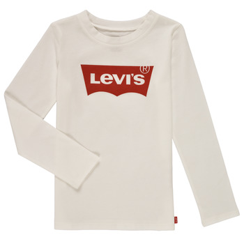 material Girl Long sleeved shirts Levi's LS BATWING TEE White