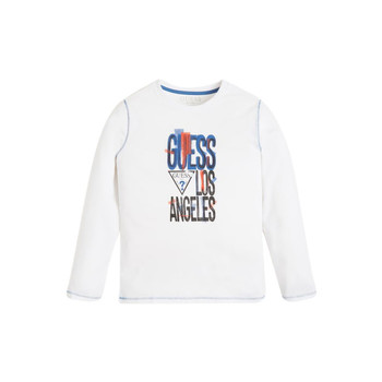 material Boy Long sleeved shirts Guess LISTIN White
