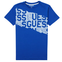 material Boy short-sleeved t-shirts Guess LISTIN Blue