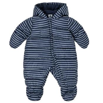 material Boy Duffel coats Petit Bateau TECHA Blue / White