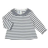 material Girl Long sleeved shirts Petit Bateau HOLINU White / Blue