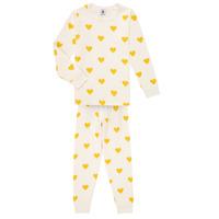 material Girl Sleepsuits Petit Bateau LERINU White / Yellow