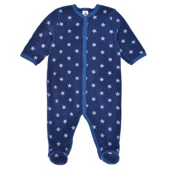 material Boy Sleepsuits Petit Bateau BENIR Blue / White