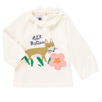 material Girl Long sleeved shirts Petit Bateau ENLEVE White