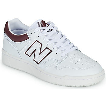 Shoes Men Low top trainers New Balance 480 White / Bordeaux