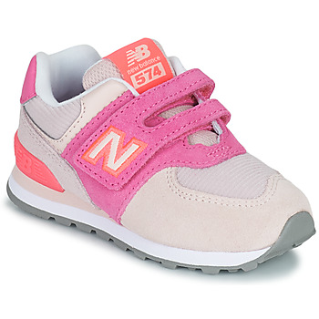 Shoes Girl Low top trainers New Balance 574 Pink / Violet