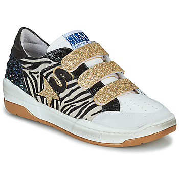 Shoes Women Low top trainers Semerdjian GOETH Black / White / Gold