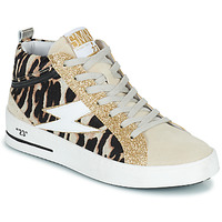 Shoes Women High top trainers Semerdjian CIELLO Beige / Gold