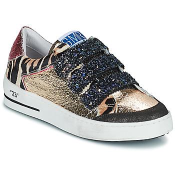 Shoes Women Low top trainers Semerdjian GAREN Gold / Pink
