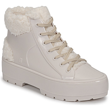 Shoes Women Mid boots Melissa MELISSA FLUFFY SNEAKER AD Beige / White