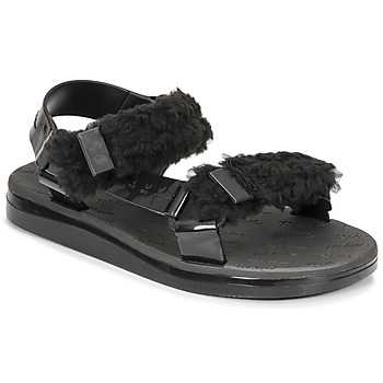 Shoes Women Sandals Melissa MELISSA PAPETTE FLUFFY RIDER AD Black