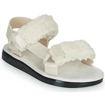 Shoes Women Sandals Melissa MELISSA PAPETTE FLUFFY RIDER AD Beige / Black