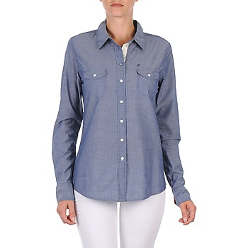 material Women Shirts Oxbow E1FARINI Blue