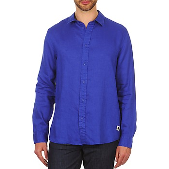 material Men long-sleeved shirts Chevignon SPEED LINEN Blue