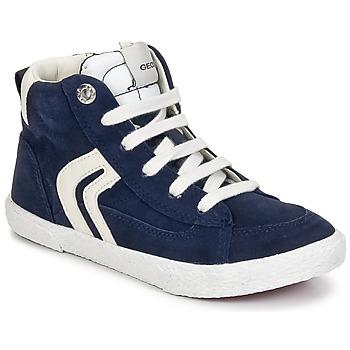 Shoes Boy High top trainers Geox KIWI BOY Marine