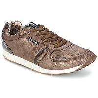 Shoes Women Low top trainers Diesel METAL Brown