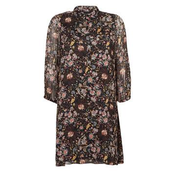 material Women Short Dresses Ikks BOTELA Black