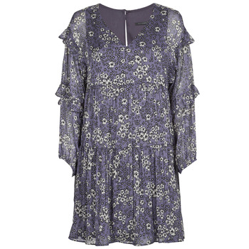 material Women Short Dresses Ikks FRENNU Blue