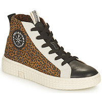 Shoes Women High top trainers Palladium Manufacture TEMPO 05 SUD Leopard