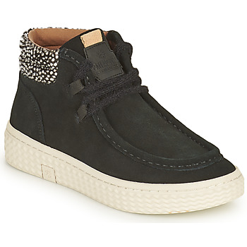 Shoes Women High top trainers Palladium Manufacture TEMPO 10 SUD Black