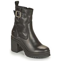 Shoes Women Ankle boots Palladium Manufacture MONA 01 NAP Black