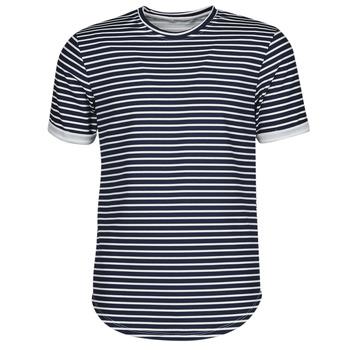 material Men short-sleeved t-shirts Yurban ORICO Marine / White