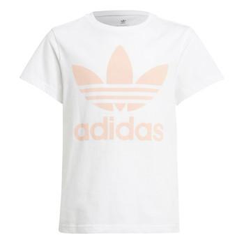material Children short-sleeved t-shirts adidas Originals VAGUO White