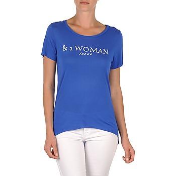 material Women short-sleeved t-shirts School Rag TEMMY WOMAN Blue