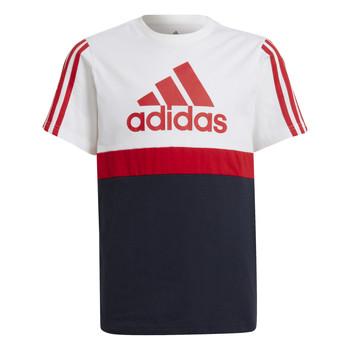 material Boy short-sleeved t-shirts adidas Performance GUILIA White / Marine