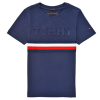 material Boy short-sleeved t-shirts Tommy Hilfiger ELEONORE Marine