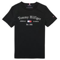 material Boy short-sleeved t-shirts Tommy Hilfiger YASSINE Black