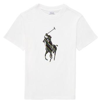 material Boy short-sleeved t-shirts Polo Ralph Lauren GUILIA White