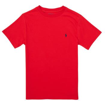 material Boy short-sleeved t-shirts Polo Ralph Lauren FOLLIA Red