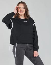 material Women sweaters Converse LONG SLEEVE JERSEY CREW Black