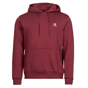 material Men sweaters Converse EMBROIDERED STAR CHEVRON PULLOVER HOODIE BB Bordeaux