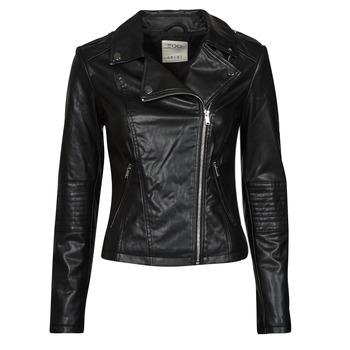 material Women Leather jackets / Imitation le Esprit PU BIKER Black
