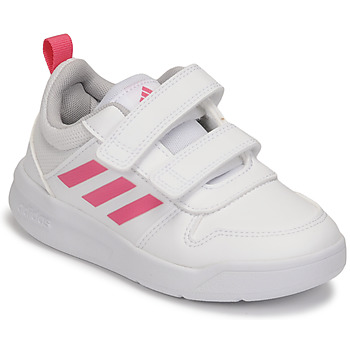 Shoes Girl Low top trainers adidas Performance TENSAUR C White / Pink