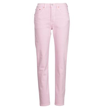 material Women Boyfriend jeans Levi's 501 CROP Pink