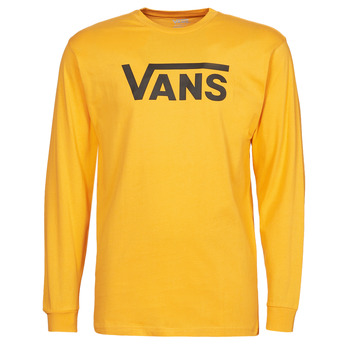material Men Long sleeved shirts Vans VANS CLASSIC LS Yellow / Black