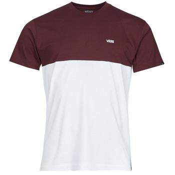 material Men short-sleeved t-shirts Vans COLORBLOCK TEE White