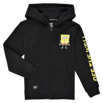 material Boy sweaters Vans BY VANS X SPONGEBOB HAPPY FACE KIDS FZ Black