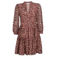 material Women Short Dresses Liu Jo WF1019 Leopard