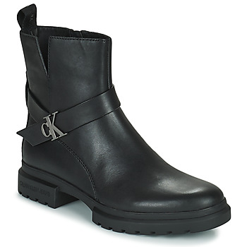 Shoes Women Mid boots Calvin Klein Jeans CLEATED MID BOOT Black