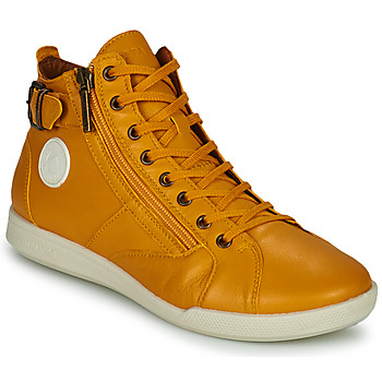 Shoes Women High top trainers Pataugas PALME Ocre tan