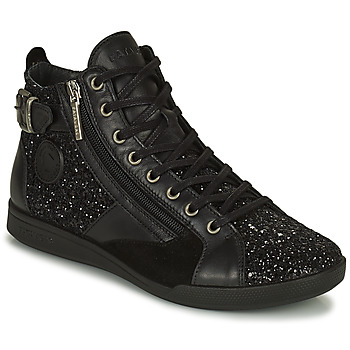 Shoes Women High top trainers Pataugas PALME Black / Glitter