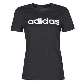 material Women short-sleeved t-shirts adidas Performance WELINT Black
