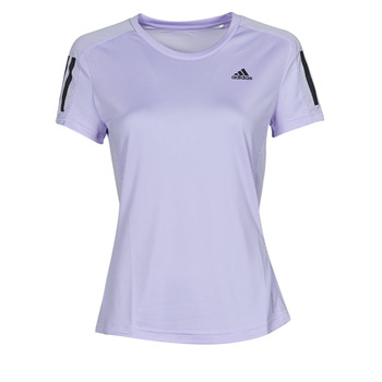 material Women short-sleeved t-shirts adidas Performance OWN THE RUN TEE Ton / Violet