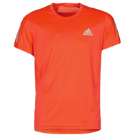 material Men short-sleeved t-shirts adidas Performance OWN THE RUN TEE Solar / Red
