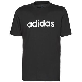 material Men short-sleeved t-shirts adidas Performance M LIN SJ T Black